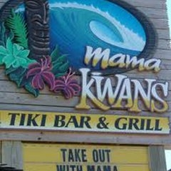 Photo taken at Mama Kwan's Tiki Bar & Grill by Kevin K. on 10/7/2011
