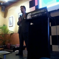 Photo taken at The Arthouse Hotel by Monty H. on 10/12/2011