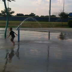 Photo taken at Fort Sam Houston MWR Splashpad by Catherine M. on 6/29/2012