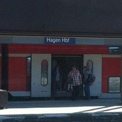 Photo taken at Hagen Hauptbahnhof by Anne E. on 10/22/2011