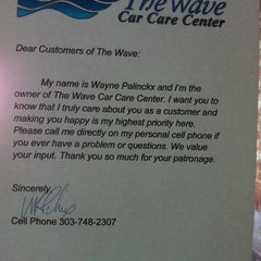 Photo taken at The Wave car care center by Mary B. on 1/28/2012