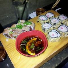 Photo taken at Sushi Bar Bazel (סושי בר בזל) by Liron Z. on 1/10/2012