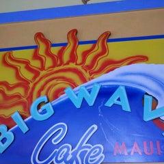 Photo taken at Big Wave Cafe by Erik B. on 1/18/2012