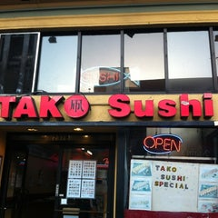 Photo taken at Tako Sushi by Caitlin P. on 3/23/2012