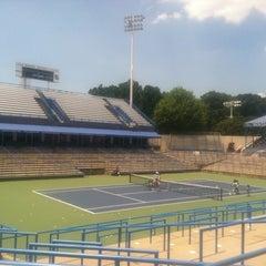 Photo taken at William H.G. Fitzgerald Tennis Stadium by David H. on 6/10/2012