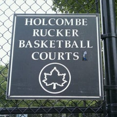Photo taken at Rucker Park Basketball Courts by TLP on 5/17/2011