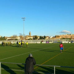Photo taken at Camp De Futbol De St. Pere Pescador by Jaume S. on 1/8/2012