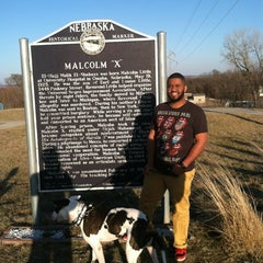Photo taken at Malcolm X  Birthsite by John D. on 3/10/2012