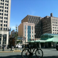 Photo taken at Kennedy Plaza Bus Terminal by Monica S. on 5/19/2012