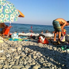 Photo taken at Trebisacce Beach by Giuseppe B. on 8/17/2012