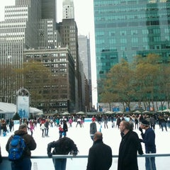 Photo taken at Bank of America Winter Village at Bryant Park by Kate R. on 12/16/2011