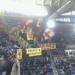 Photo taken at Palau Blaugrana by Roger S. on 1/8/2012
