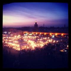 Photo taken at Place Jemaa el-Fna | ساحة جامع الفناء by J. B. on 5/24/2012