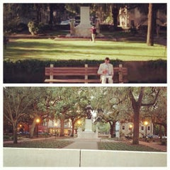 Photo taken at Forrest Gump's Bench (former location) by Josh C. on 8/6/2012