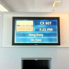 Photo taken at Cathay Pacific Lounge by Bradley J. on 8/5/2012
