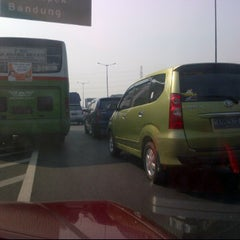 Photo taken at Gerbang Tol Pondok Gede Timur by Ryzco R. on 7/7/2012