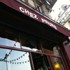 Photo taken at Chez Prune by Aurélien B. on 3/14/2012