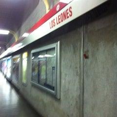 Photo taken at Metro Los Leones by Nicolas Alfredo V. on 10/27/2011