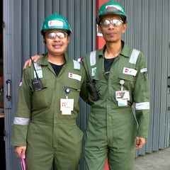 Photo taken at Adhi Karya - GS E&C Cilacap RFCC Site Office by Wawan ag on 9/6/2012
