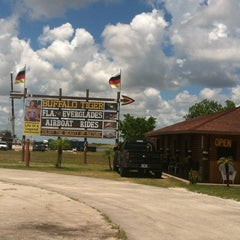 Photo taken at Buffalo Tiger's Airboat Rides by Matthew V. on 8/9/2012