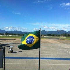 Photo taken at Aeroporto de Joinville / Lauro Carneiro de Loyola (JOI) by Miguel F. on 3/9/2012