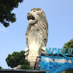 Photo taken at The Merlion (Sentosa) by David A. on 7/28/2012