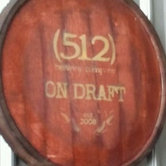 Photo taken at (512) Brewing Company by Mark V. on 2/25/2012