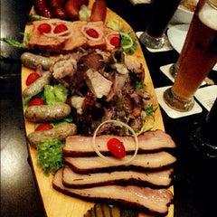 Photo taken at Brotzeit German Bier Bar & Restaurant by Elaine H. on 8/17/2012