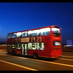 Photo taken at Vauxhall Bridge by Oscar H. on 7/26/2012