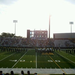 Photo taken at Memorial Field EGR Stadium by Shannon M. on 8/23/2012