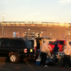 Photo taken at Meadowlands Parking Lot by Alexandra R. on 1/1/2012
