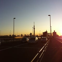 Photo taken at 四つ木橋 by m s. on 1/2/2012