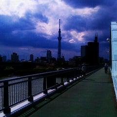 Photo taken at 四つ木橋 by Atsushi K. on 9/25/2011
