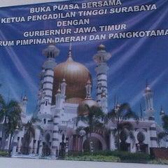 Photo taken at Pengadilan Tinggi Jawa Timur by ahmad z. on 8/2/2012