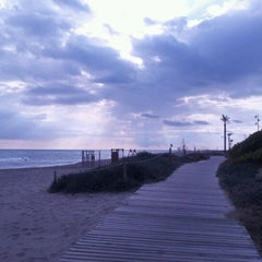 Photo taken at Platja del Prat by Juan L. on 2/14/2012