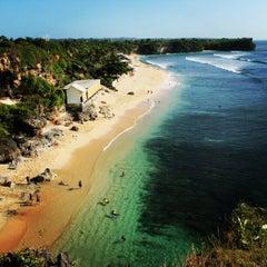 Photo taken at Balangan Beach by Iwudz 🌍 on 5/28/2012