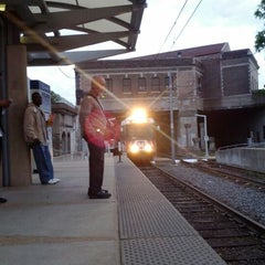 Photo taken at MetroLink - Delmar Loop Station by Dan P. on 4/22/2012