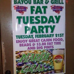 Photo taken at Bayou Bar & Grill by Eric on 2/21/2012