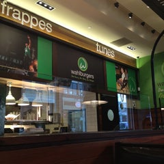 Photo taken at Wahlburgers by Will Monotone on 4/12/2012