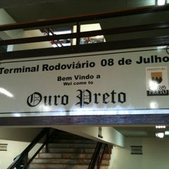 Photo taken at Terminal Rodoviário de Ouro Preto by Thiago F. on 1/17/2011