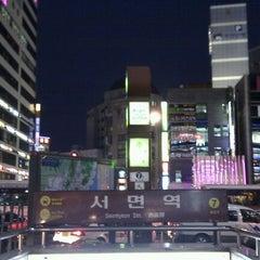 Photo taken at 서면역 (Seomyeon Stn.) by DaeHyun S. on 12/20/2011