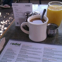Photo taken at Radial Cafe by Paul R. on 10/15/2011