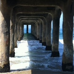 Photo taken at Manhattan Beach Pier by John J. on 8/11/2012