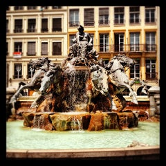 Photo taken at Place des Terreaux by Anderson S. on 6/19/2012