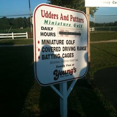 Photo taken at Udders and Putters Mini Golf Course by Tory C. on 8/26/2011