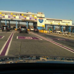 Photo taken at New England Thruway Toll Plaza by Jake S. on 12/11/2011