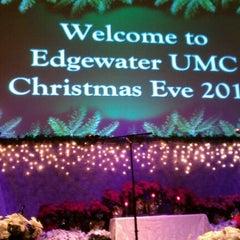 Photo taken at Edgewater Church by Jeff B. on 12/24/2011