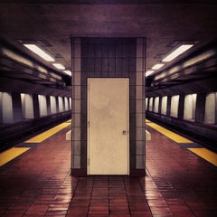 Photo taken at 16th St. Mission BART Station by Jared Z. on 4/17/2012