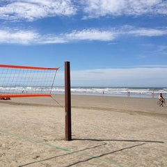 Photo taken at Praia do Sesc Bertioga by Rinaldo M. on 7/10/2012