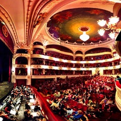 Photo taken at Teatro Municipal de Santiago by Leo P. on 5/23/2012